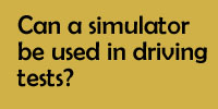Can a simulator be used in driving tests