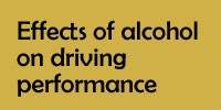 Effects of alcohol on driving performance