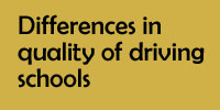 Differences in quality of driving schools
