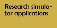 Research simulator applications