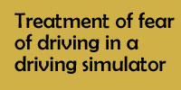 Treatment of fear of driving in a driving simulator