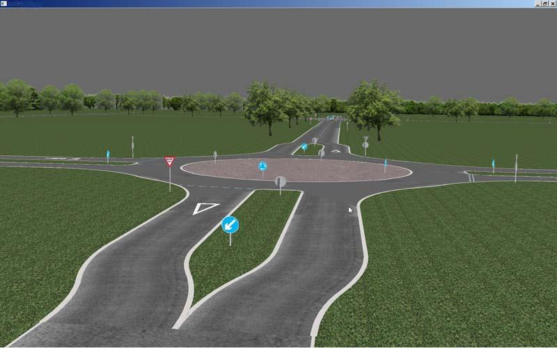research simulator road database